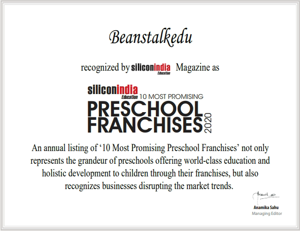Beanstalkedu most promising preschool franchise in India